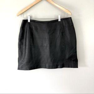 Hugo Buscati Collection Black Leather Mini Skirt